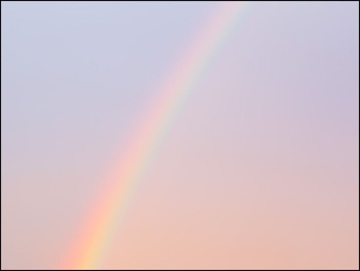 A rainbow in the sky on a rainy October evening in Fort Wayne, Indiana.