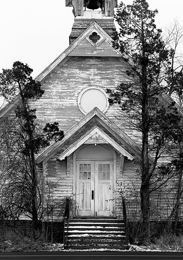 Abandoned Rural Church On State Road 37 In Indiana