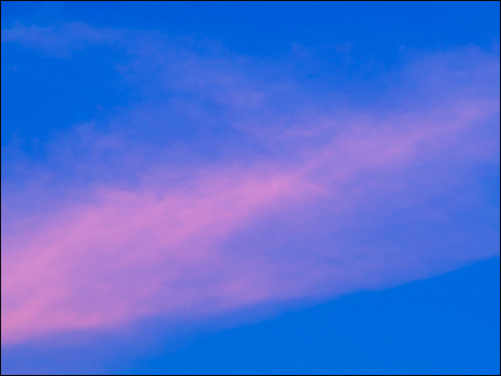 The fifth of six abstract images of cloud formations in the sky right before sunset in Fort Wayne, Indiana.