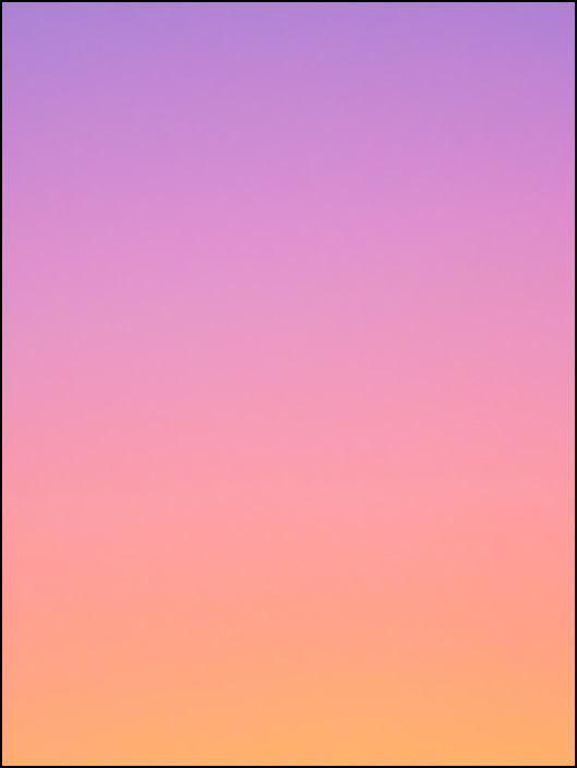 An abstract color field photograph of the sky at dawn in Fort Wayne, Indiana. First of a series of eight.