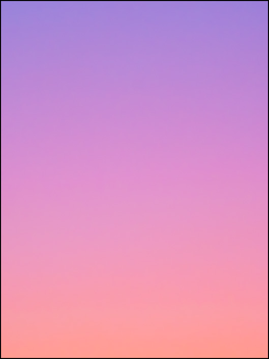 An abstract color field photograph of the sky at dawn in Fort Wayne, Indiana. Second of a series of eight.