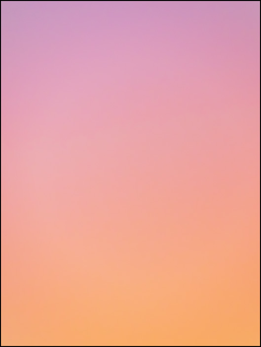 An abstract color field photograph of the sky at dawn in Fort Wayne, Indiana. Third of a series of eight.