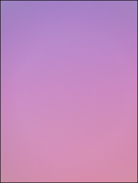 An abstract color field photograph of the sky at dawn in Fort Wayne, Indiana. Fourth of a series of eight.