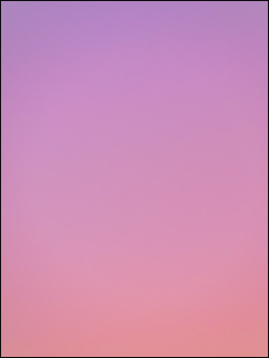 An abstract color field photograph of the sky at dawn in Fort Wayne, Indiana. Fifth of a series of eight.
