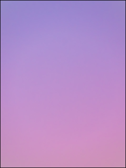 An abstract color field photograph of the sky at dawn in Fort Wayne, Indiana. Sixth of a series of eight.