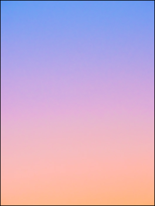 An abstract color field photograph of the sky at dawn in Fort Wayne, Indiana. Seventh of a series of eight.