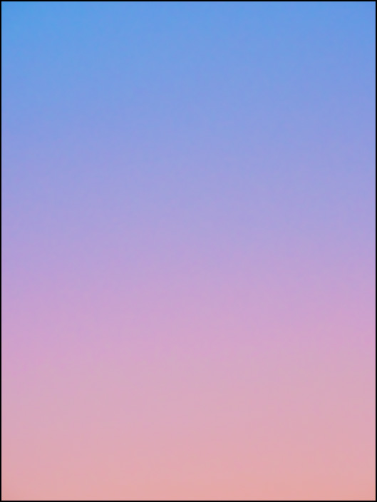 An abstract color field photograph of the sky at dawn in Fort Wayne, Indiana. Eighth of a series of eight.