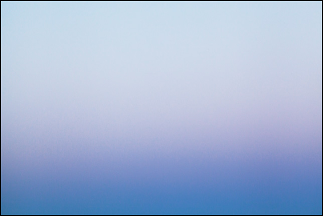 Abstract color field photograph of the sky at dusk in Allen County, Indiana. Number one of nine.