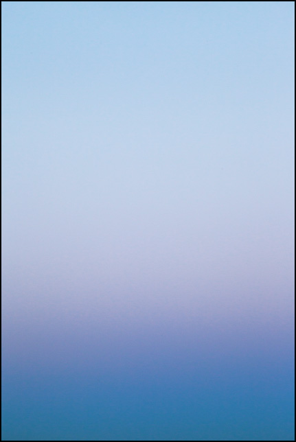 Abstract color field photograph of the sky at dusk in Allen County, Indiana. Number two of nine.
