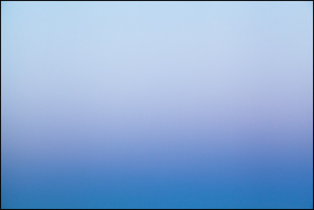 Abstract color field photograph of the sky at dusk in Allen County, Indiana. Number three of nine.