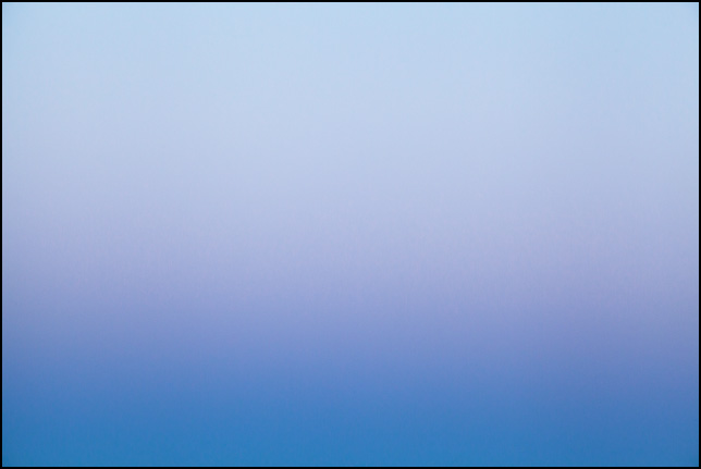 Abstract color field photograph of the sky at dusk in Allen County, Indiana. Number four of nine.