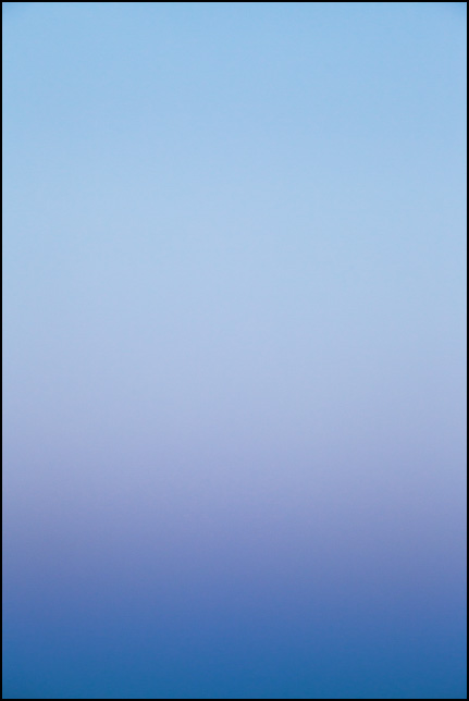 Abstract color field photograph of the sky at dusk in Allen County, Indiana. Number five of nine.