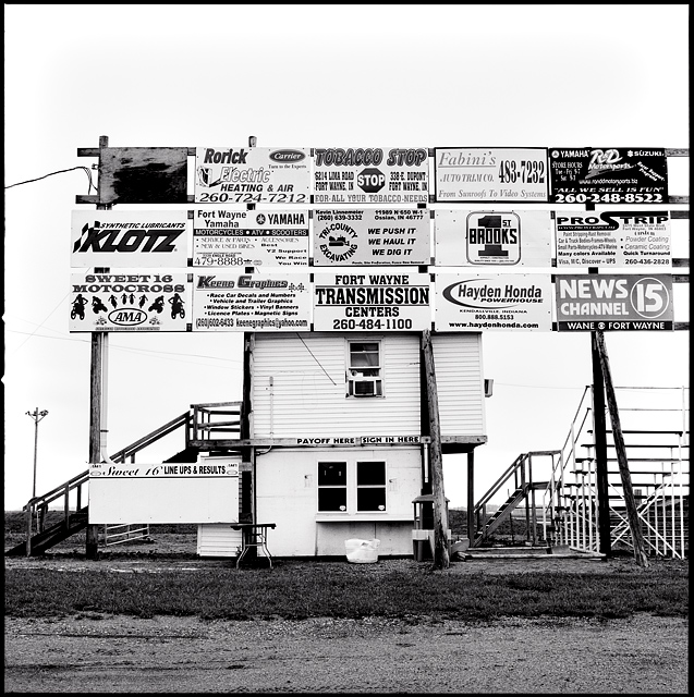 The Ticket Booth At The Smaller Of The Two Tracks At Baer Field Speedway  Under An