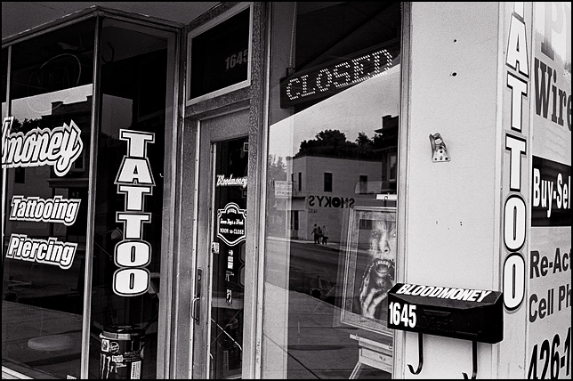 Bloodmoney tattoo and piercing on wells street for Tattoo shops in fort wayne