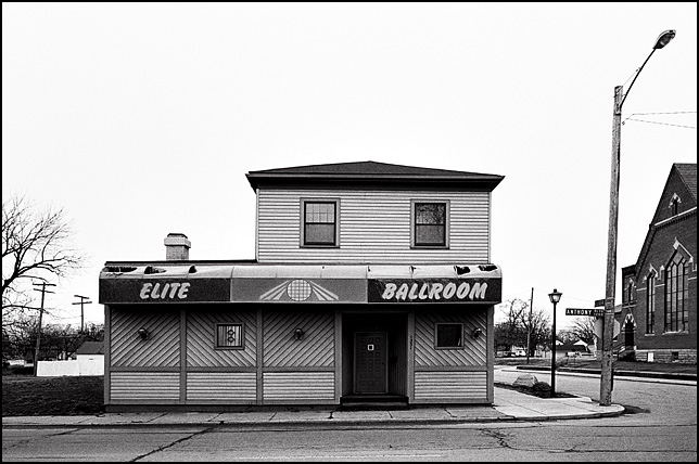 The Elite Ballroom is an abandoned reception hall in an old rundown building on Anthony Boulevard in an inner city neighborhood on the southeast side of Fort Wayne, Indiana.