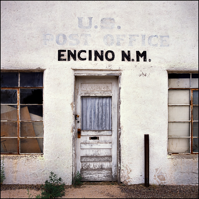 The old abandoned adobe post office in the small town of Encino, New Mexico.