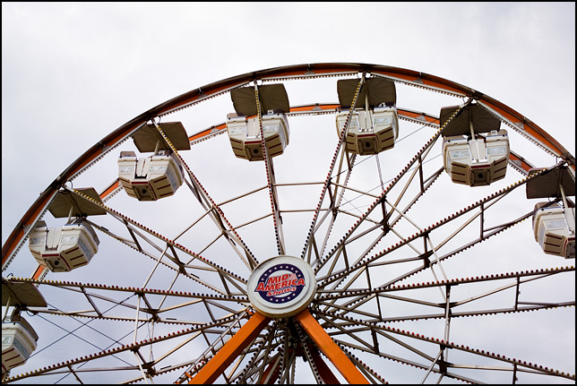 A Ferris Wheel at the Three Rivers Festival carnival in Fort Wayne, Indiana.