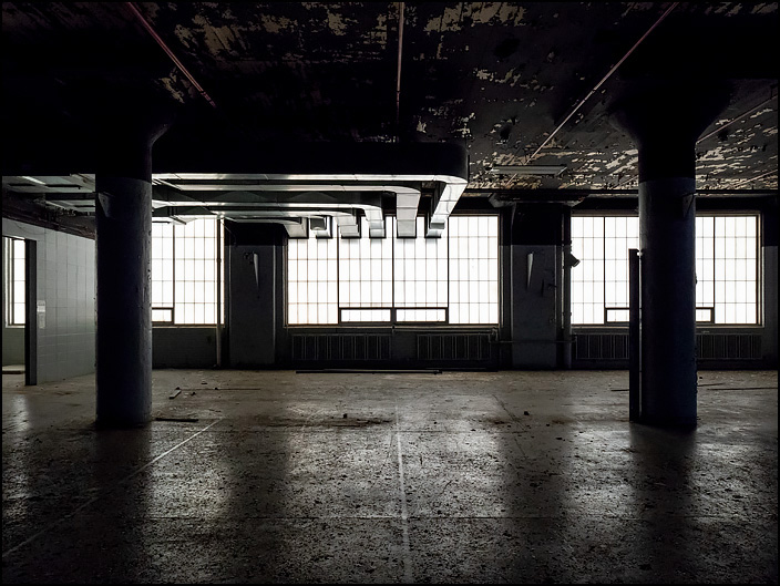Interior Of An Abandoned Ge Factory In Fort Wayne