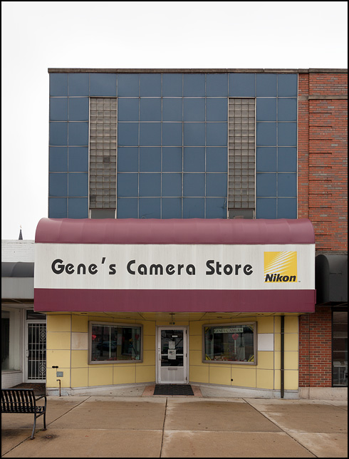 Genes Camera Store, a small town camera store in Mishawaka, Indiana.
