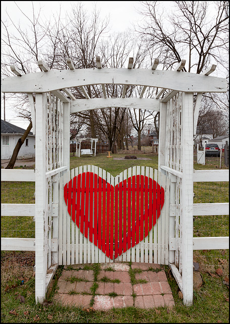 Heart Shaped Back Yard Gate Photograph By Christopher