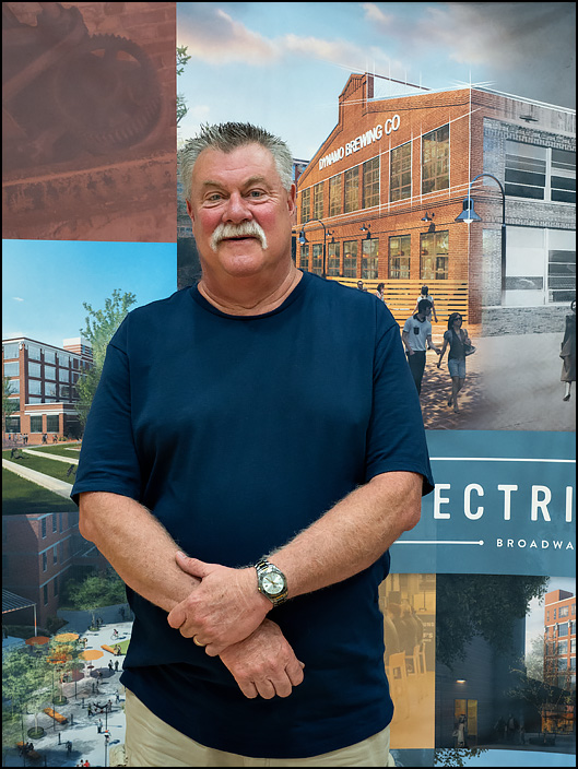Kevin Gilliam, the facilities manager and the last employee at the former General Electric factory complex in Fort Wayne, Indiana.