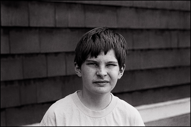 Portrait of my son, MacKenzie Crawford, at age 13.