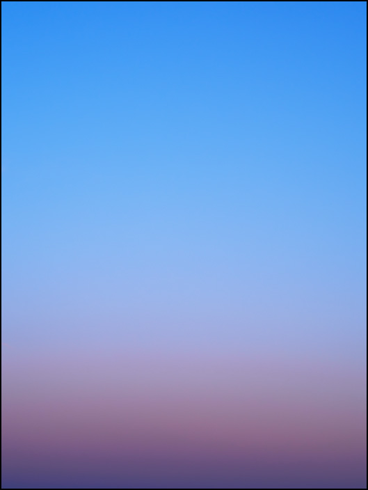 An abstract color field photograph of the evening sky in March, 2018. The sky was photographed at dusk in rural Allen County, Indiana. Number one of three.