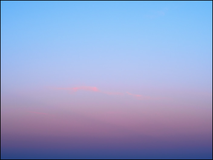 An abstract color field photograph of the evening sky in March, 2018. The sky was photographed at dusk in rural Allen County, Indiana. Number two of three.