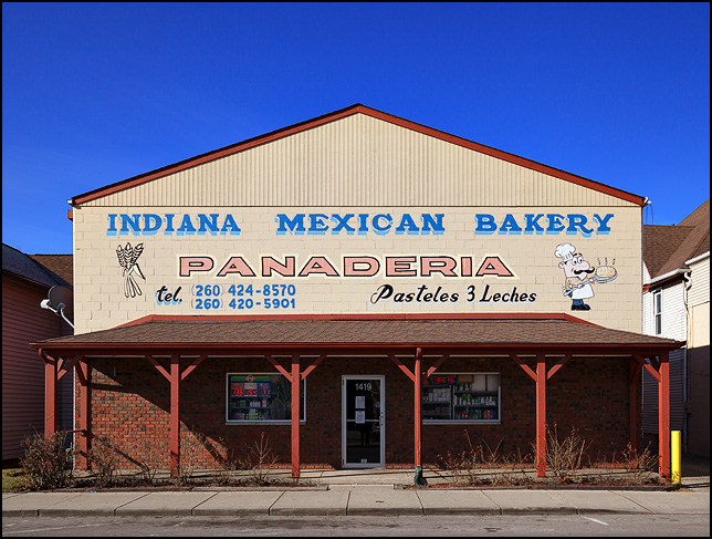 Indiana Mexican Bakery, a Panaderia on Wells Street in Fort Wayne, Indiana.