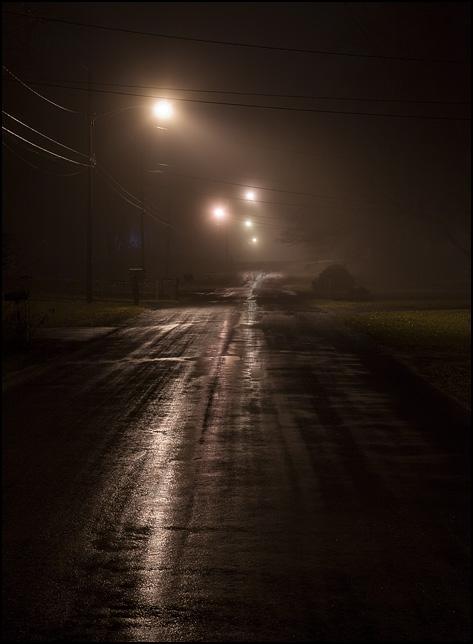 Fog And Rain On A January Night Photograph By