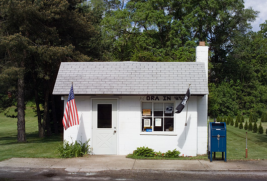 Us post office in ora indiana photograph by christopher crawford - Post office us post office ...
