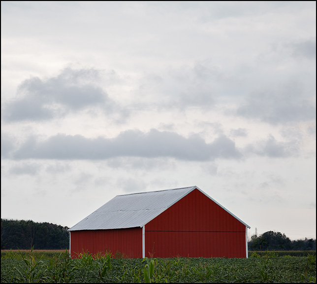Red Pole Barn In Rural Indiana Photograph By Christopher
