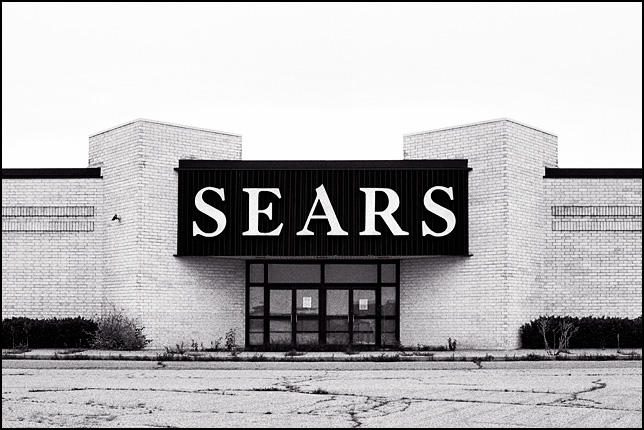 The abandoned Sears Roebuck department store at Southtown Mall in Fort Wayne, Indiana.