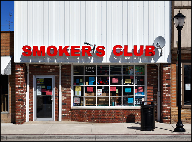 Smoker's Club, a tobacco store in the small town of Fremont, Indiana.