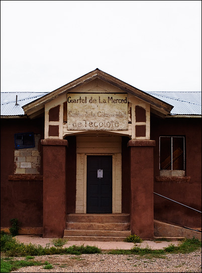 Meeting house of a Penitente brotherhood in the mountains of northern New Mexico in the town of Tecolote.