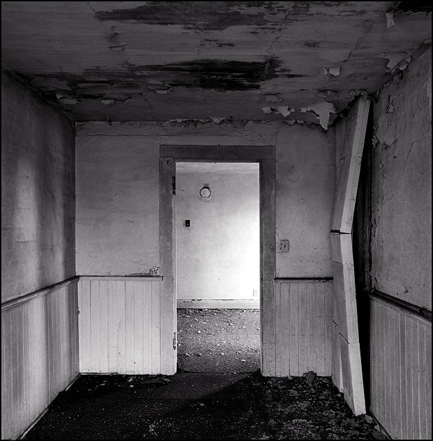 A Dark Empty Room In An Abandoned Farmhouse Photograph