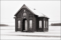 Schoolhouse at Besancon, Indiana #9