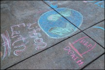 Mormon Chalk Graffiti In Freimann Square