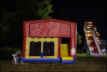 Inflatable Bounce-House At The Three Rivers Festival