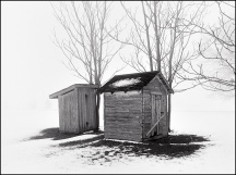Outhouses in the Fog #2