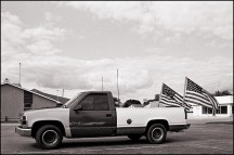Patriotic Truck in Churubusco