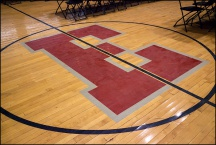Gymnasium Floor at Elmhurst High