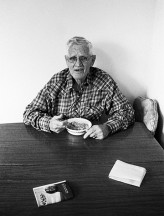 Grandpa Having Breakfast