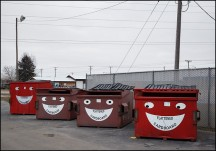 Smiling Recycling Bins in Ligonier