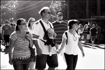A Family At The Johnny Appleseed Festival