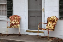 A Pair of Tulip Chairs on Kyle Road