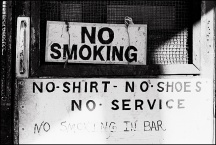 No Smoking in the Bar