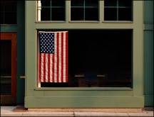 Office Window Patriotism