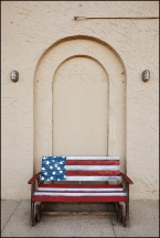 Laura's Patriotic Bench