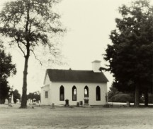 Church in the Prairie Grove Cemetery
